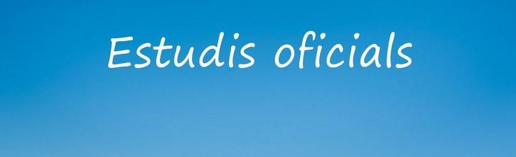 1. Estudis oficials