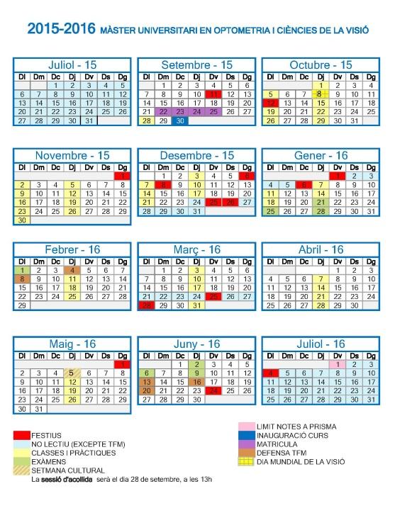 Calendari 2015-2016